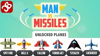 Man Vs. Missiles - UNLOCKED PLANES - iOS/Android Gameplay Video