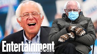 Bernie Sanders Reacts to Viral Inauguration Memes | Newsflash | Entertainment Weekly