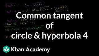 IIT JEE Circle Hyperbola Common Tangent Part 4