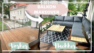 Balkon MakeOver | Neue Möbel, Kräuter & Palmen anpflanzen