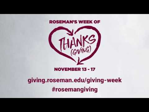 Week of Thanks(Giving) 2017