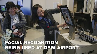Facial recognition being used at DFW Airport to board American Airlines international flights