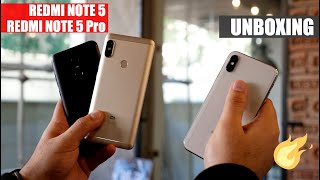 Xiaomi Redmi Note 5 and Xiaomi Redmi Note 5 Pro Unboxing and First Look