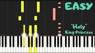 """""""Holy"""" By King Princess   EASY Piano Tutorial"""