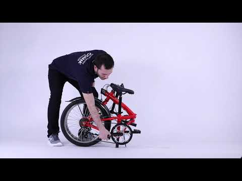 BTwin Tilt 120 Red Folding Bicycle