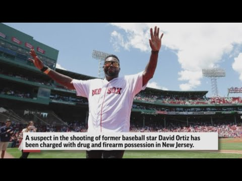 One of the suspects in the shooting of former baseball star David Ortiz was charged Thursday with drug and firearm possession in New Jersey. (June 20)