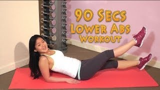 How to Get a Flat & Sexy Tummy. Best 90Secs Lower Abs Workout! No More Excuses! by Joanna Soh Official