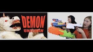 Nerf vs  Demon Unicorn