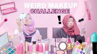 Weird makeup challenge!! FT SOHWA HALILINTAR