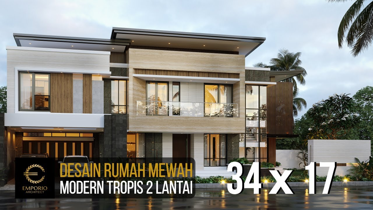 Video 3D Mrs. Febry Modern House 2 Floors Design - Jayapura, Papua