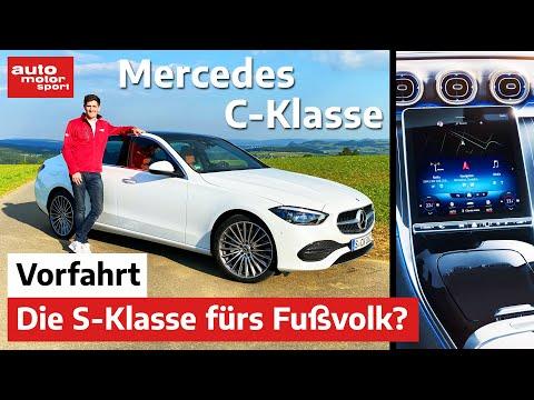 Mercedes C-Klasse (2021): Die kleine S-Klasse fürs Fußvolk? - Vorfahrt (Review) | auto motor sport