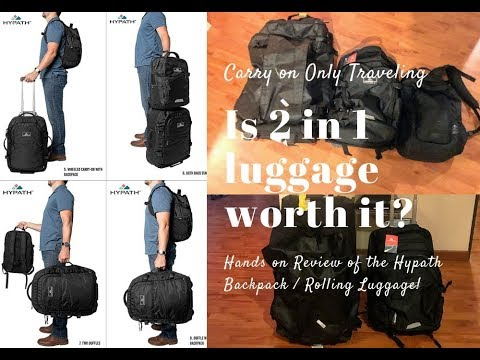 Carry On Only Luggage – 2 in 1 Backpack into Rolling Luggage Review!