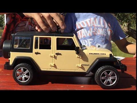 Машинки Bruder. Джип Wrangler. Игрушечная машинка для детей. Jeep Unlimited Rubicon. Bruder Toys видео