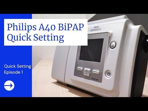 Philips Respironics Bipap A40 Setup