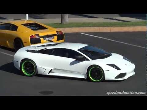 Lamborghini Murcielago LP640 with green wheels