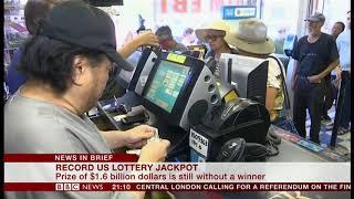 Record lottery jackpot ($1.6 billion) (USA) - BBC News - 20th October 2018