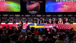 Winner's press conference with Måns Zelmerlöw - 2015 Eurovision Song Contest