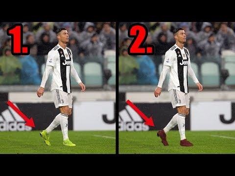 Warum wechselt Cristiano Ronaldo jede Halbzeit seine Schuhe ?!