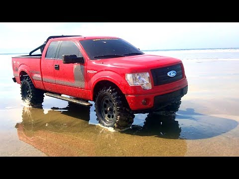 RC ADVENTURES - BEACH DRIViNG A FORD F150 FX4 PiCKUP TRUCK In MEXICO! #TOYRealism