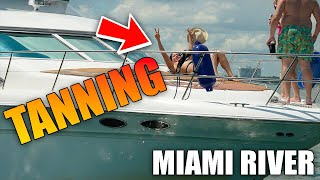 😎 Amazing View BOYS! Chi Chi's OUT!!!   MIAMI BOATING   DRONEVIEWHD [ BOATS & YACHTS ]