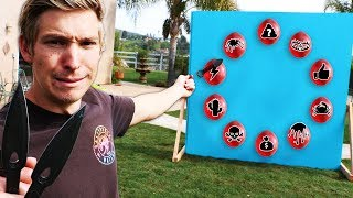 Throwing Knife VS Mystery Balloons!! *SECRET NINJA PUNISHMENTS*