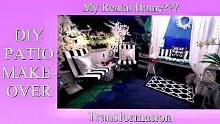 2020 SPRING PATIO TRANSFORMATION| DIY HOME DECORATING IDEAS IN A RENTAL!