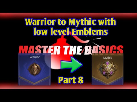 Part 8 | How fast can I reach Mythic with low level Emblems ?  Mobile Legends | Master the Basics