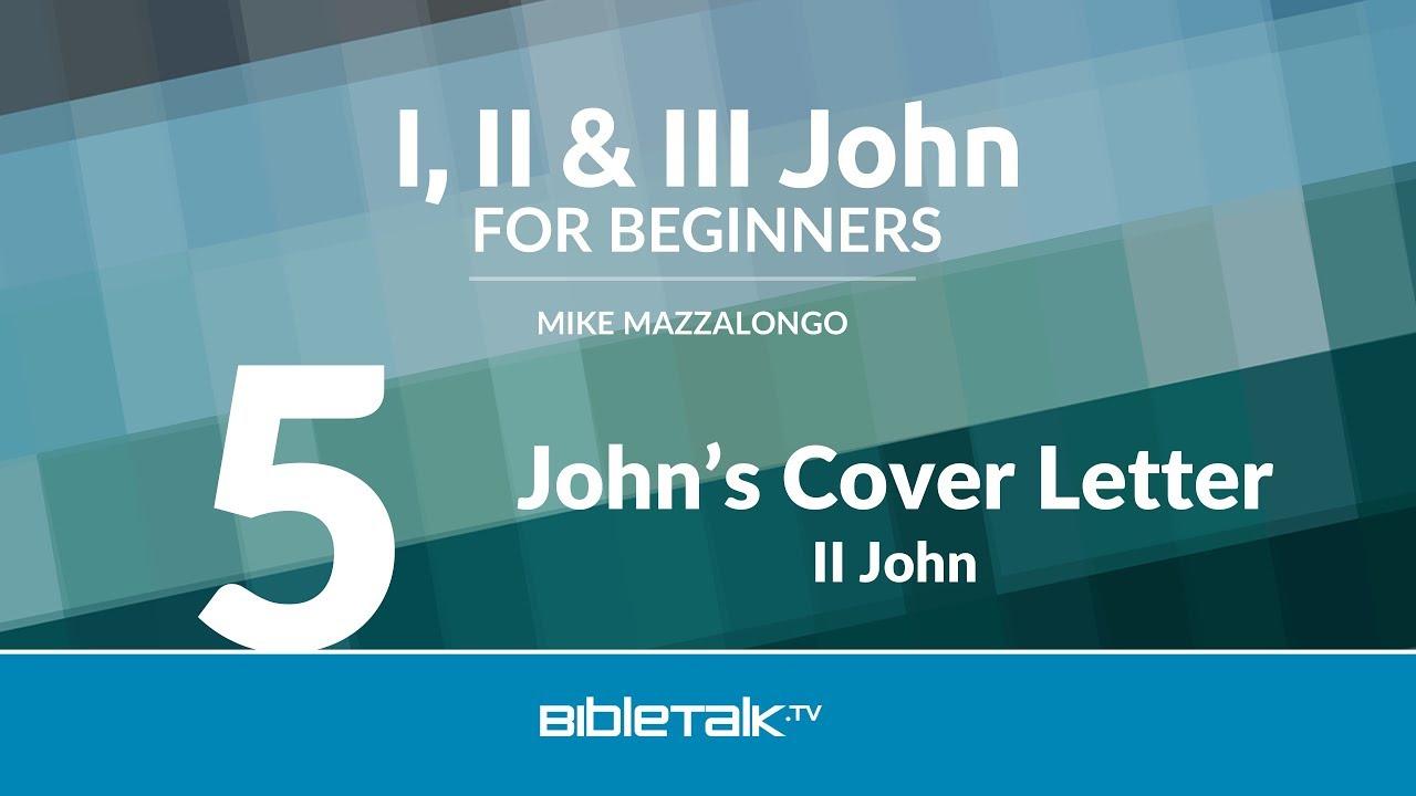 5. John's Cover Letter