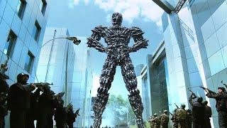 机器人复制出无数个自己,组成钢铁巨人,连军队都打不过!速看科幻电影《宝莱坞机器人之恋》