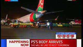 DEVELOPING STORY: PS's body arrives into the country