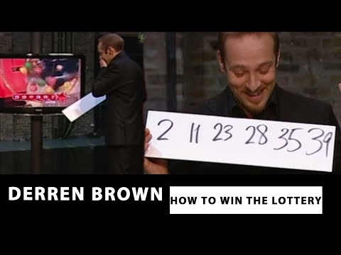 derren brown predicts the correct lottery numbers how to win
