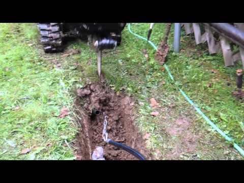 Spogatec Spezialbau: grabenloses Verlegen von PE-Rohren in Rasenflächen