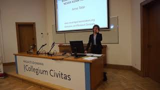 "Anna Tatar at a conference on ""The Rise of Hate Crimes and the Role of Youth in Countering Them"", Warsaw, 23.01.2020."