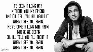 See You Again   Wiz Khalifa Ft. Charlie Puth (Lyrics)
