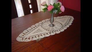 Schönen Tischläufer Häkeln Einfaches Und Schnelles Muster Anleitung