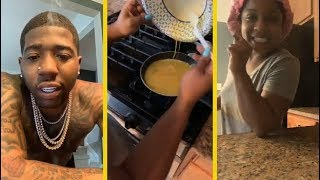 YFN Lucci Teaches Lil Wayne's Daughter How To Make His Eggs!