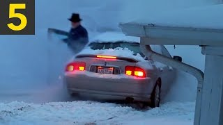 Top 5 Angry People VS Snow