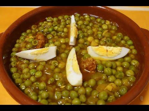 CAZUELA DE GUISANTES (CHÍCHAROS) CON CHORIZO /¿qué es el tomate triturado?