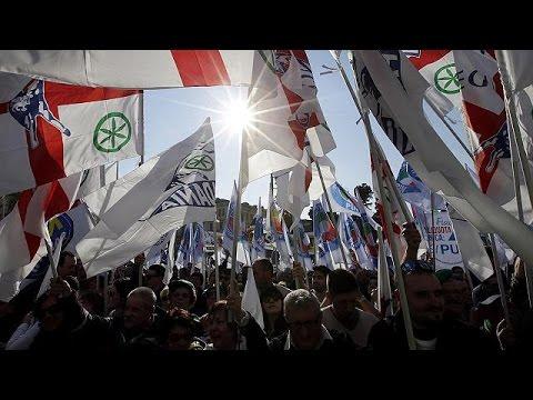Italie : La Ligue du Nord dans la rue contre le gouvernement Renzi