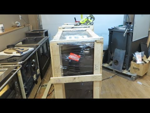 Uncrating a Wood Cookstove
