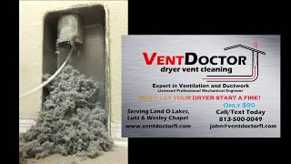 Typical dryer vent cleaning - Land O Lakes, Lutz, Tampa, Wesley Chapel - Florida