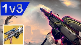 1v3 Trials against teabagger W/ Hereafter Exotic Sniper | Destiny