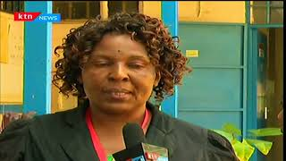 KCPE observer in Kibra, Roselyne updates pupils' mood this morning before beginning their exams