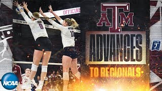Texas A&M v. Rice: Second round of 2019 NCAA women's volleyball tournament