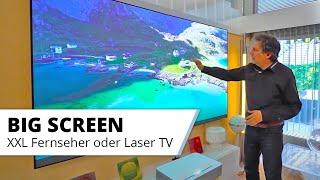 """Großer Fernseher im Wohnzimmer? Kino oder mehr Schein als Sein? 75"""" LED vs 100"""" Zoll Laser TV?"""