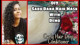 SABUDANA HAIR DEEP CONDITIONER TAPIOCA PEARLS HAIR MASK BEST DEEP CONDITIONER FOR CURLY HAIR