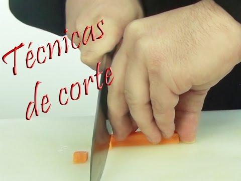Técnicas de corte de Chef: Como usar los cuchillos y cortes de verduras