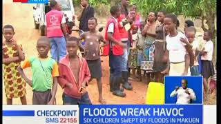 Three children have been reported dead and 250 families displaced by raging floods in Malindi