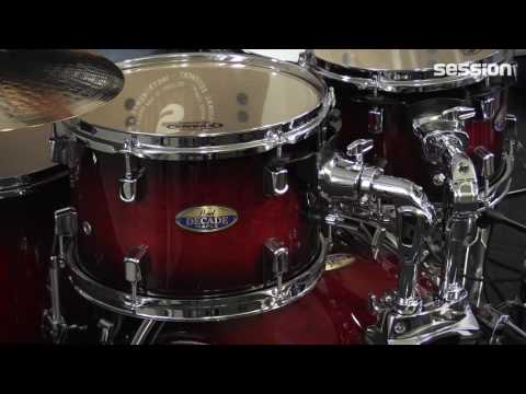 Pearl Decade Maple Drumset – Gloss Deep Red Burst Drum-Review von session