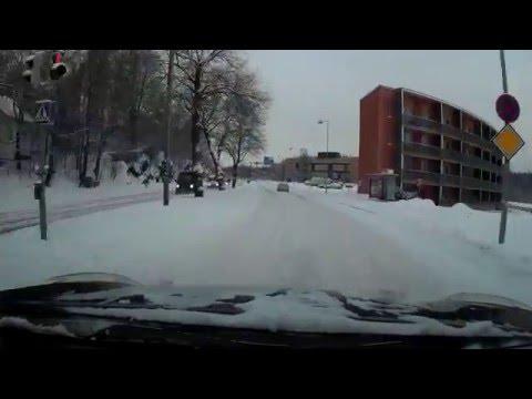Winter drive in Helsinki 4x speed (Pihlajisto - Pikku-Huopalahti)